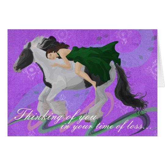 Woman on Horseback Sympathy Card