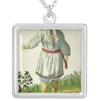Woman peasant's summer costume, Cheremes Tribe Silver Plated Necklace