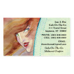 WOMAN PEERING OUT ~ ABSTRACT RV BUSINESS CARDS
