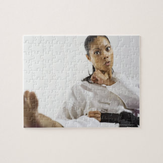 Woman performing martial arts 2 jigsaw puzzle