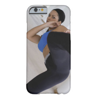 Woman performing martial arts barely there iPhone 6 case