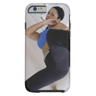 Woman performing martial arts tough iPhone 6 case