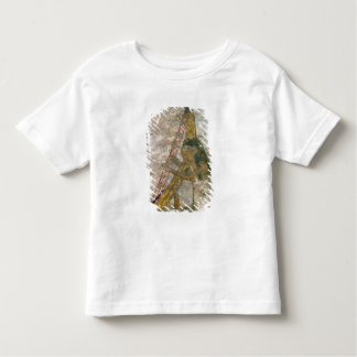 Woman playing an arched harp toddler T-Shirt
