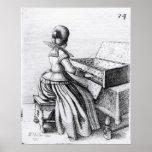 Woman Playing at a Keyboard, 1635 Poster