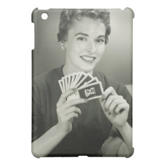 Woman Playing Cards Cover For The iPad Mini