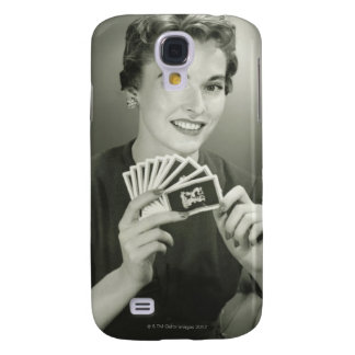 Woman Playing Cards Galaxy S4 Case