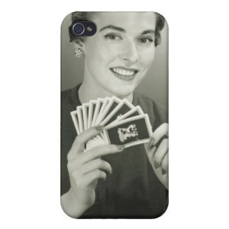 Woman Playing Cards iPhone 4/4S Case