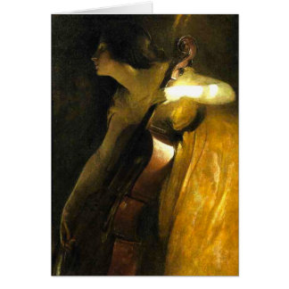 Woman Playing Cello Greeting Card