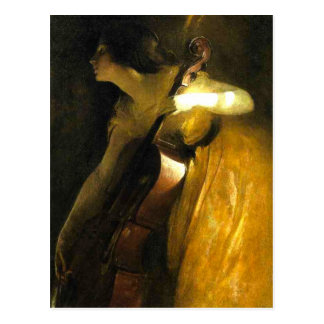 Woman Playing Cello Postcards