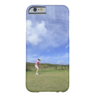 Woman playing golf barely there iPhone 6 case