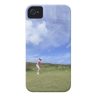 Woman playing golf iPhone 4 Case-Mate cases