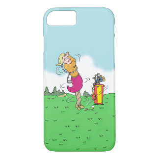 Woman Playing Golf iPhone 8/7 Case