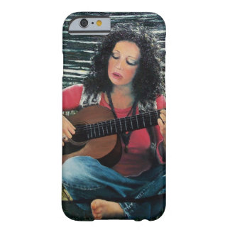 Woman Playing Music With Acoustic Guitar Barely There iPhone 6 Case