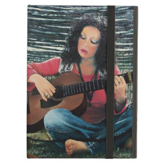 Woman Playing Music With Acoustic Guitar iPad Air Cover