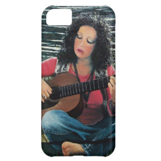 Woman Playing Music With Acoustic Guitar iPhone 5C Case