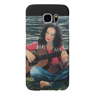 Woman Playing Music With Acoustic Guitar Samsung Galaxy S6 Cases