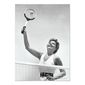 Woman Playing Tennis 2 Card