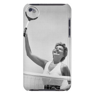 Woman Playing Tennis 2 iPod Case-Mate Cases