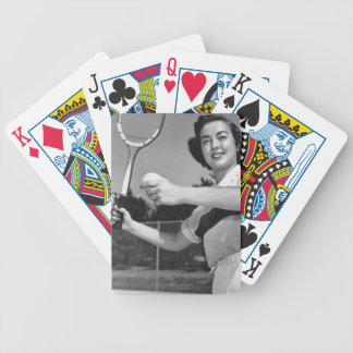 Woman Playing Tennis 3 Bicycle Playing Cards