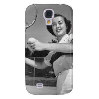 Woman Playing Tennis 3 Galaxy S4 Case