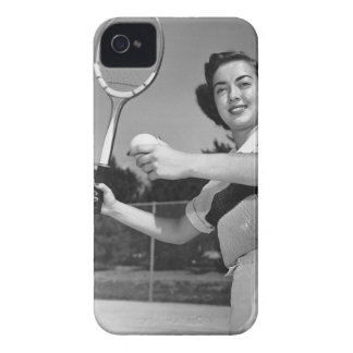 Woman Playing Tennis 3 iPhone 4 Case