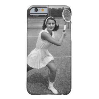 Woman playing tennis barely there iPhone 6 case