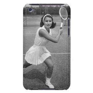 Woman playing tennis iPod touch cover