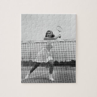 Woman Playing Tennis Jigsaw Puzzle