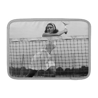 Woman Playing Tennis MacBook Sleeve