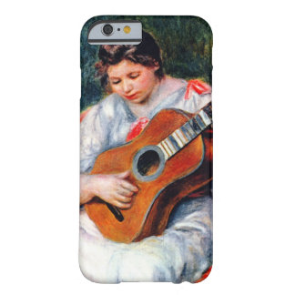 Woman Playing The Guitar by Renoir, Vintage Art Barely There iPhone 6 Case