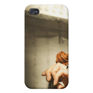 Woman Playing Violin iPhone 4 Cover