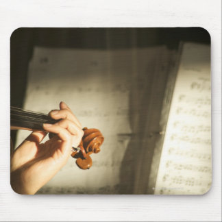 Woman Playing Violin Mouse Mat