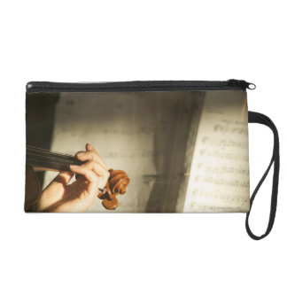 Woman Playing Violin Wristlet