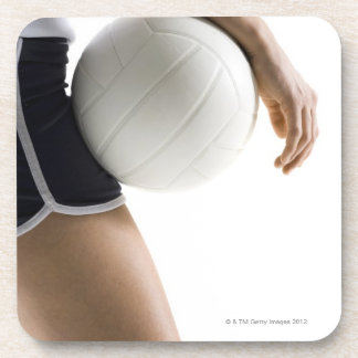 woman playing volleyball coaster