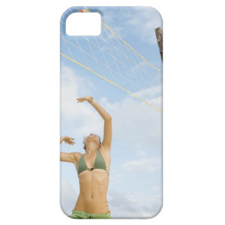 Woman playing volleyball outdoors case for the iPhone 5