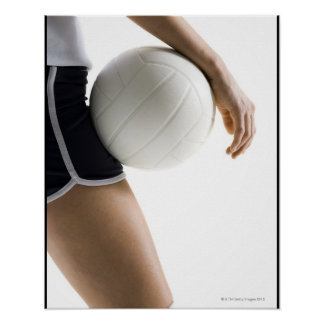 woman playing volleyball print