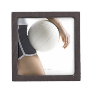 woman playing volleyball premium trinket boxes