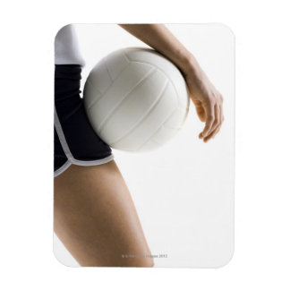 woman playing volleyball rectangular photo magnet