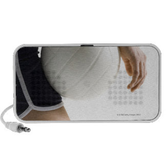 woman playing volleyball iPhone speaker