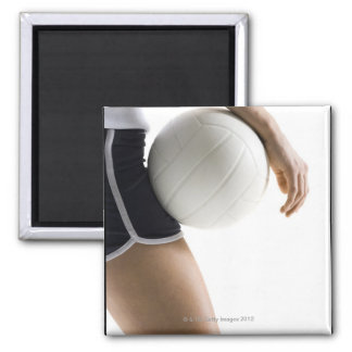 woman playing volleyball square magnet