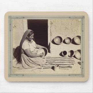 Woman Polishing Pottery - 1879 Mouse Pads