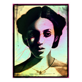 woman portrait postcard
