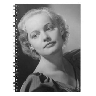 Woman Posing 2 Spiral Notebook
