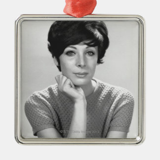 Woman Posing Christmas Ornament