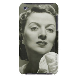 Woman Posing in Studio 2 Barely There iPod Case
