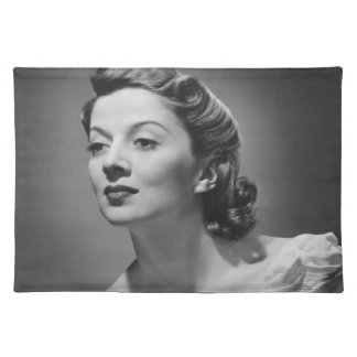 Woman Posing in Studio Placemat