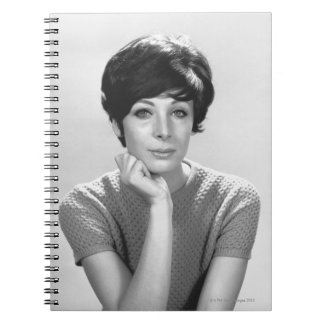 Woman Posing Notebooks