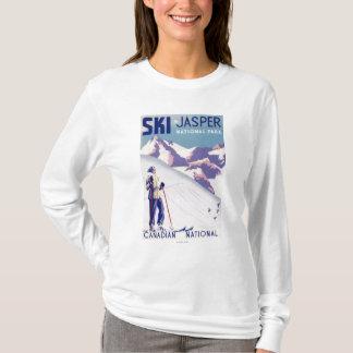 Woman Posing Open Slopes Poster T-Shirt