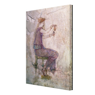 Woman Pouring Perfume into a Phial Canvas Print