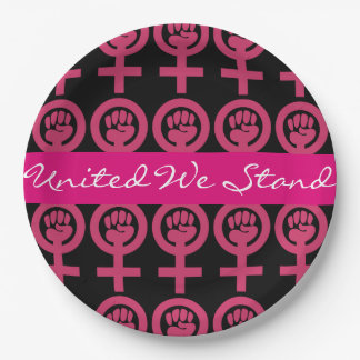 Woman Power Add Your Own Message Paper Plate